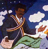 Zapatista mural of Magon