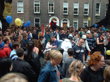 Dancing in the streets at RTS in Dublin