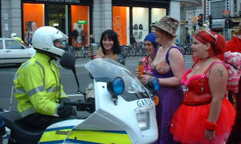Motor cycle cop in Dublin Ireland