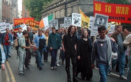 Marching by Trinity College Dublin