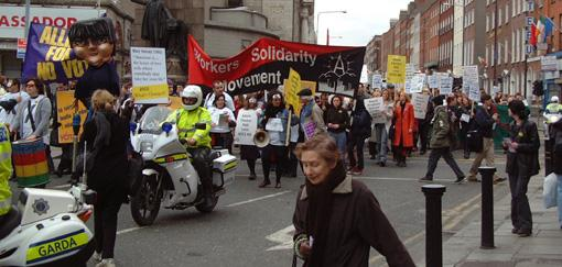Irish anarchists on pro choice march