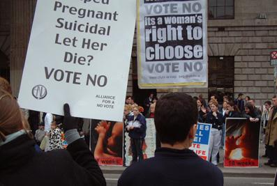Bigots and pro choice activists face off in Dublin