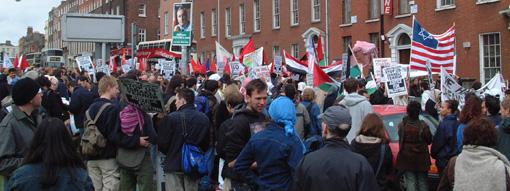 Start of Dublin Freedom for Palestine march