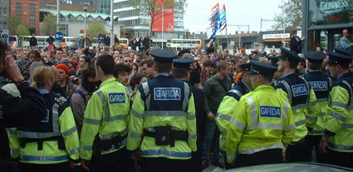 Gardai at Dublin Reclaim the Streets