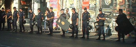 Riot cops in Seville