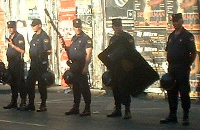 National Police at Seville protests
