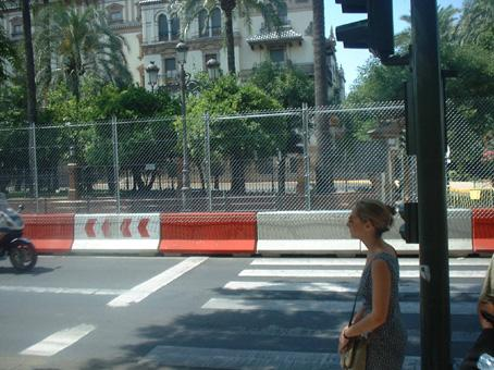Exclusion fence in Seville