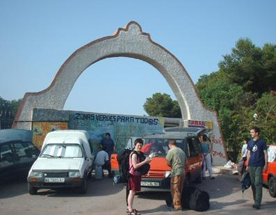 The gate of the military base