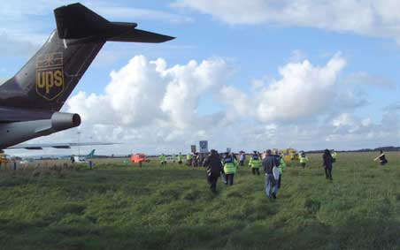 Anti-war protesters on runway at Shannon airport