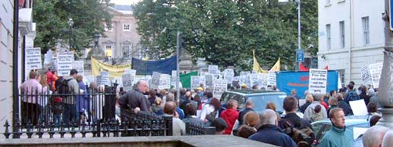 Bin tax protest at Dail Eireann