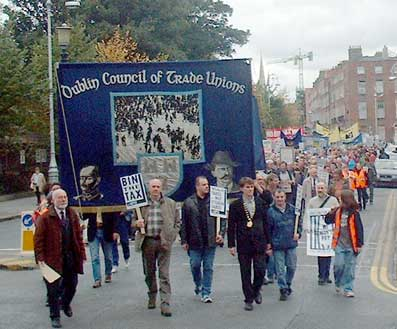 Dublin Council of Trade Unions banner