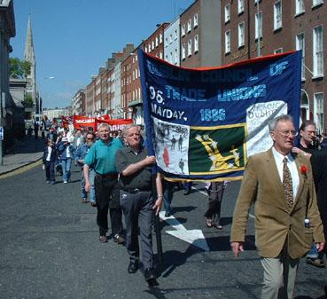 Dublin May Day trade union march