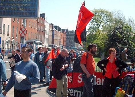 Assembling for May Day march