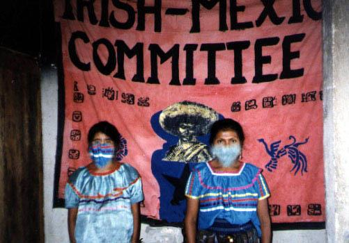 Irish Mexico Group banner in Chiapas