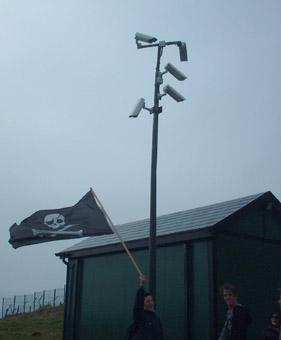 Security cameras at Old Head of Kinsale