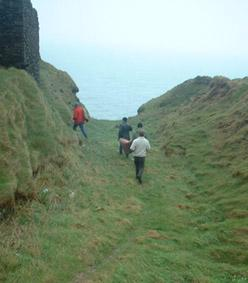 The ditch at the Old Head of Kinsale