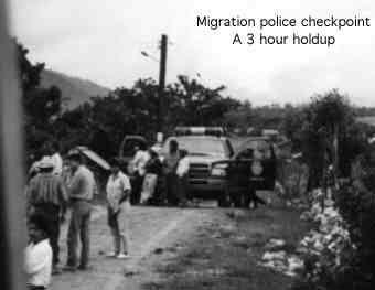 Migration police in Chiapas