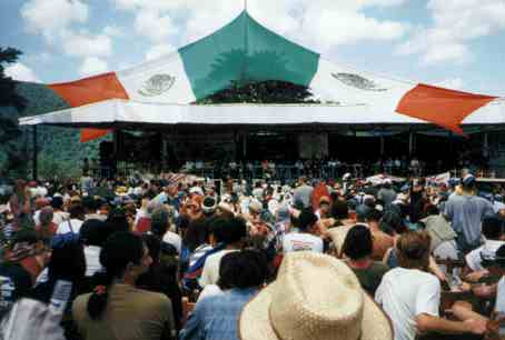 View of stage at la Realidad, Chiapas