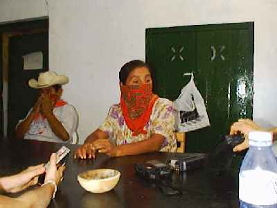 Zapatista delegates at the 2nd encounter
